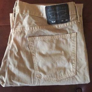 Levi's 514 Men's Tan Jeans